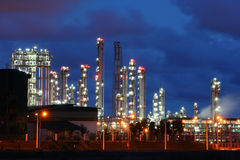 Glow light of petrochemical industry Royalty Free Stock Image