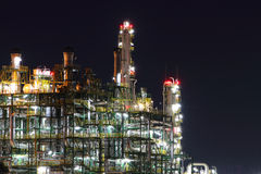 Glow light of petrochemical industry Royalty Free Stock Photography