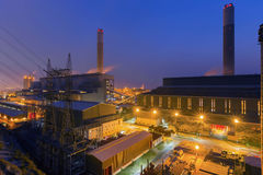 Glow light of petrochemical industry Stock Images
