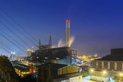Glow light of petrochemical industry Stock Image