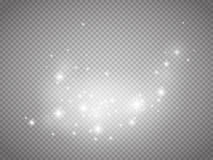 Glow light vector effect. Christmas flash Concept. Stock Images