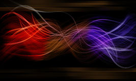 Glow like a double fiber and effect black backgrou Royalty Free Stock Photo
