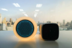 Glow modern bluetooth wireless speaker Stock Image