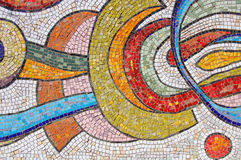 Glow Multicolored Mosaic. On the Wall Royalty Free Stock Photography