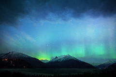 Glow of Northern Lights Royalty Free Stock Images