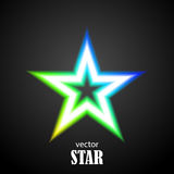 Glow particolored stars. Vector Illustration Royalty Free Stock Images