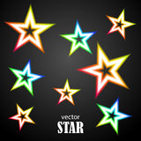 Glow particolored stars. Vector Illustration Stock Photo