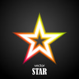 Glow particolored stars. Vector Illustration Stock Images