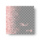 Glow pink background. Glitter sparkle background with light rays. Particles abstract on a transparent backdrop Royalty Free Stock Images