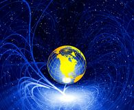 Glow planet Earth royalty free stock photography