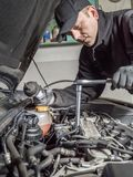 Glow plug replacement Royalty Free Stock Photography