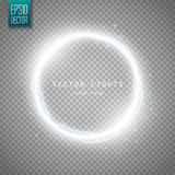 Glow round frame with many shine particles and electricity effect. Vector Royalty Free Stock Images