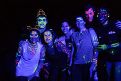 Glow Run gang in Port Elizabeth Royalty Free Stock Image