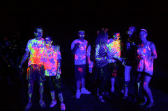 Glow Run Port Elizabeth 2014 South Africa Royalty Free Stock Image
