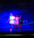 Glow Run Port Elizabeth three ethereal figures Royalty Free Stock Image