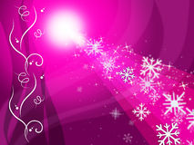 Glow Snowflake Represents Ice Crystal And Congratulation Stock Images