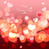 Glow Soft Hearts Valentines Day Background Royalty Free Stock Images