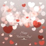 Glow Soft Hearts Valentines Day Background Stock Photography