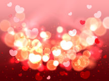 Glow Soft Hearts Valentines Day Background Royalty Free Stock Photo