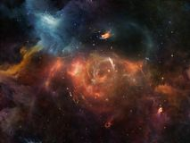 Glow of Space. Deep Space series. Composition of nebula, stars and colors on the subject of astronomy, science, space and religion Royalty Free Stock Photography