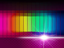 Glow Spectrum Shows Color Guide And Chromatic Stock Photo
