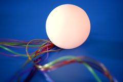 Glow sphere colorful wires wired communication Stock Images