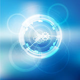 Glow spin neon circles abstract background. stock illustration