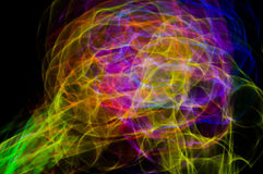 Glow stick light painting Royalty Free Stock Images