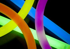 Glow Sticks Closeup Royalty Free Stock Image