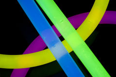 Glow Sticks Closeup Stock Photography
