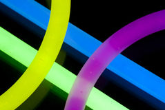 Glow Sticks Closeup Royalty Free Stock Photo