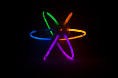 Glow-sticks connected to form a ball Royalty Free Stock Image