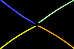 Glow sticks fluorescent lights Royalty Free Stock Photography