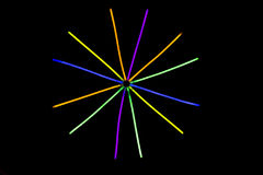 Glow sticks fluorescent lights Stock Photos