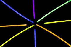 Glow sticks fluorescent lights Stock Images