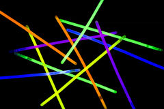 Glow sticks fluorescent lights Stock Image