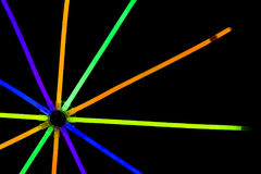 Glow sticks fluorescent lights Royalty Free Stock Photos