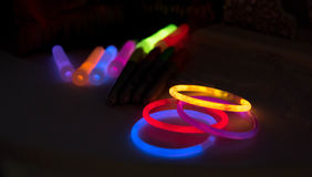 Glow Sticks. This is a small bunch of glow sticks and braclets Royalty Free Stock Images