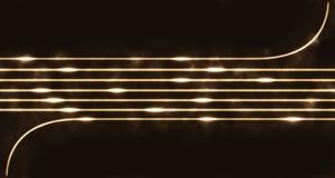 Glow stings Stock Photo