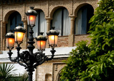 Glow from street lamps early evening in Spain Stock Photography