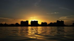 Glow sunset. Sunset in the north east of Thailand Royalty Free Stock Photography