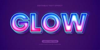 Free Glow Text Effect Royalty Free Stock Photos - 216101108