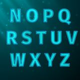 Glow Text Royalty Free Stock Image