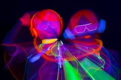 Glow uv neon sexy disco female cyber doll Stock Photography