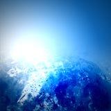 Glow water Stock Image