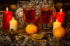 Glow wine. At Christmas time Royalty Free Stock Photos