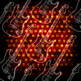 Glowin electric guitar Stock Photography