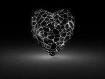 Glowin heart cracks Royalty Free Stock Photos