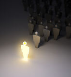 Glowing 3d figure Stock Photography