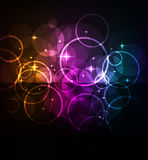 Glowing abstract background Royalty Free Stock Photos